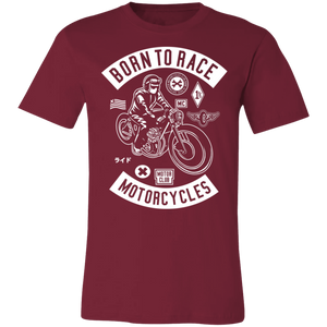 Born To Race Motorcycles Adult Tee