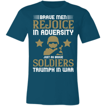 Load image into Gallery viewer, Brave Men Rejoice in Adversity Adult Tee