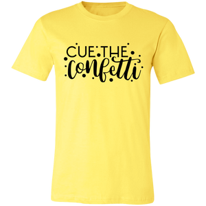 Cue the Confetti Adult Tee