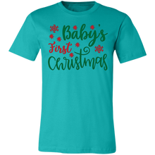 Load image into Gallery viewer, Baby's First Christmas Adult Tee