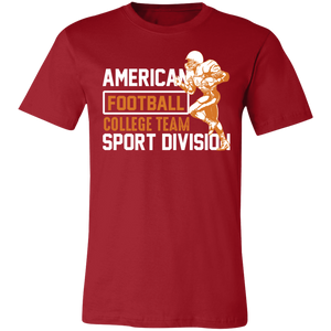 American Football College Team Adult Tee
