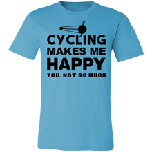 Load image into Gallery viewer, Cycling Makes Me Happy Adult Tee