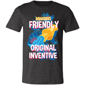 Aquarius Friendly Original Inventive Adult Tee