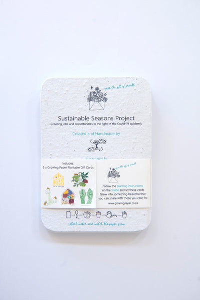 Pack of 5 Sustainable Seasons Greeting Cards