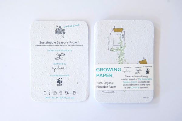 Pack of 5 Growing Paper Cards by Anja Stoeckigt