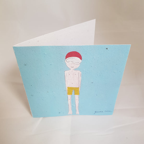 Greeting Card | Boy in swimwear