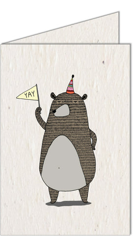 Greeting Card | Celebrating Bear