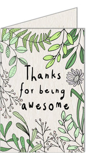 Greeting Card | Thanks for being Awesome