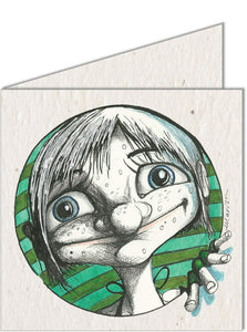 Greeting Card | Girl & Stripes