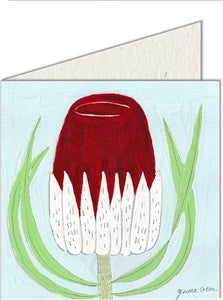 Greeting Card | Red & White Protea