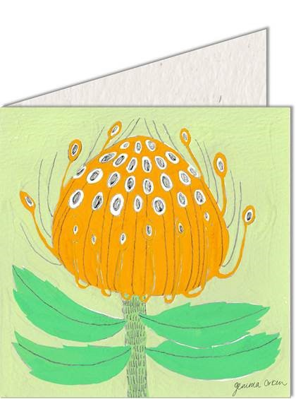 Greeting Card | Yellow Protea