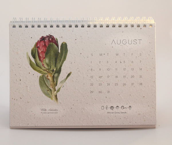 2021 Growing Paper Botanical Calendar | Wiro Bind