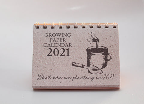 2021 Growing Paper Whats Growing Calendar | Wiro Bound