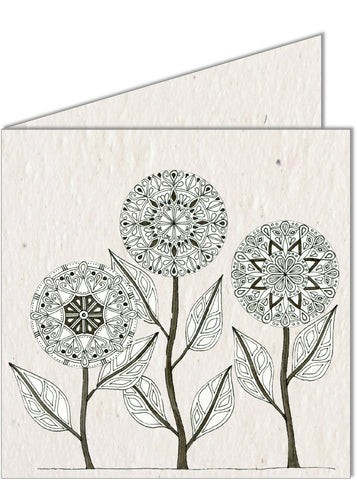 Greeting Card | Mandala Flowers