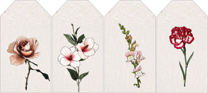 Celebrating Flowers pink - set of 4 tags