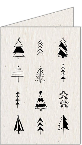 Christmas Card | Ink Christmas Tree's