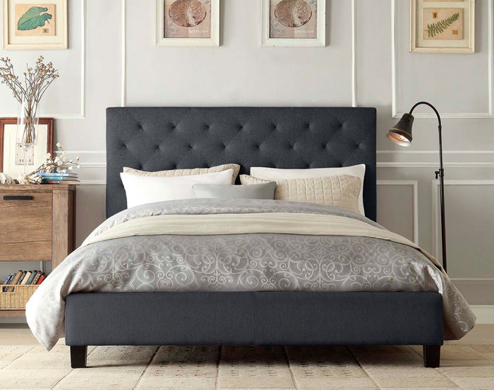 Marco Fabric Bed Frame (Charcoal)