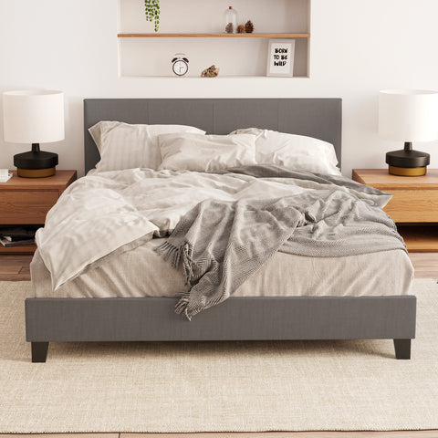 Hans Fabric Bed Frame (Charcoal)