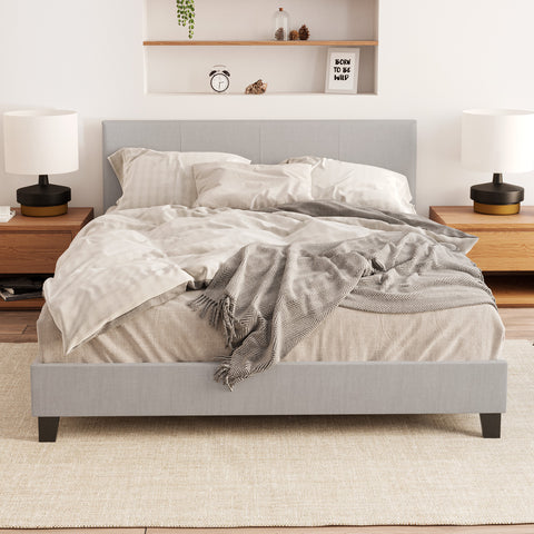 Hans Fabric Bed Frame (Grey)