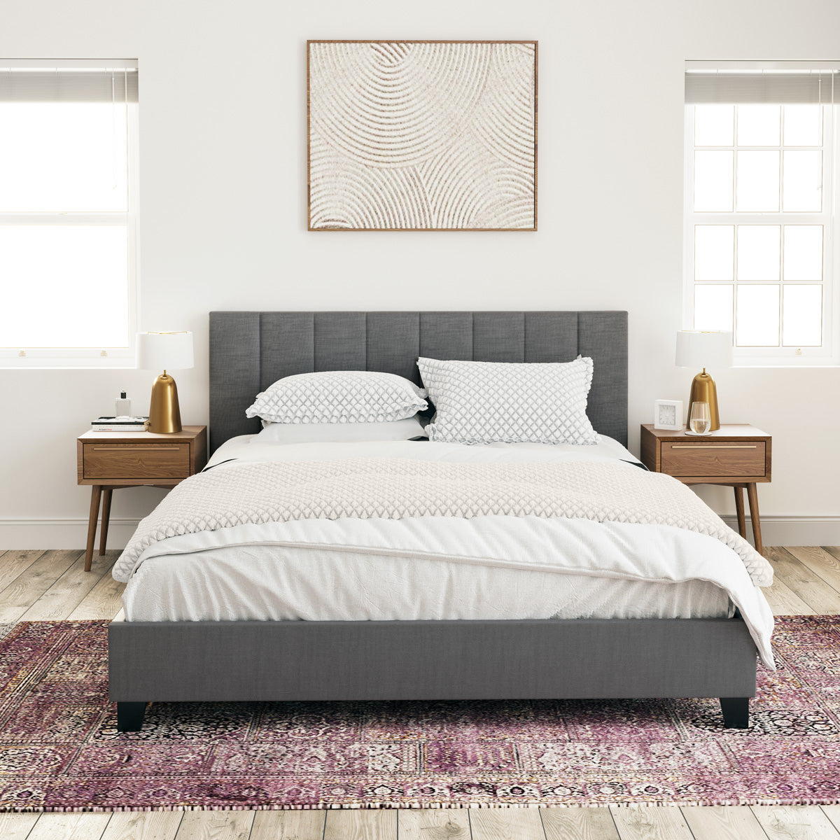 Ormond Fabric Bed Frame (Charcoal)