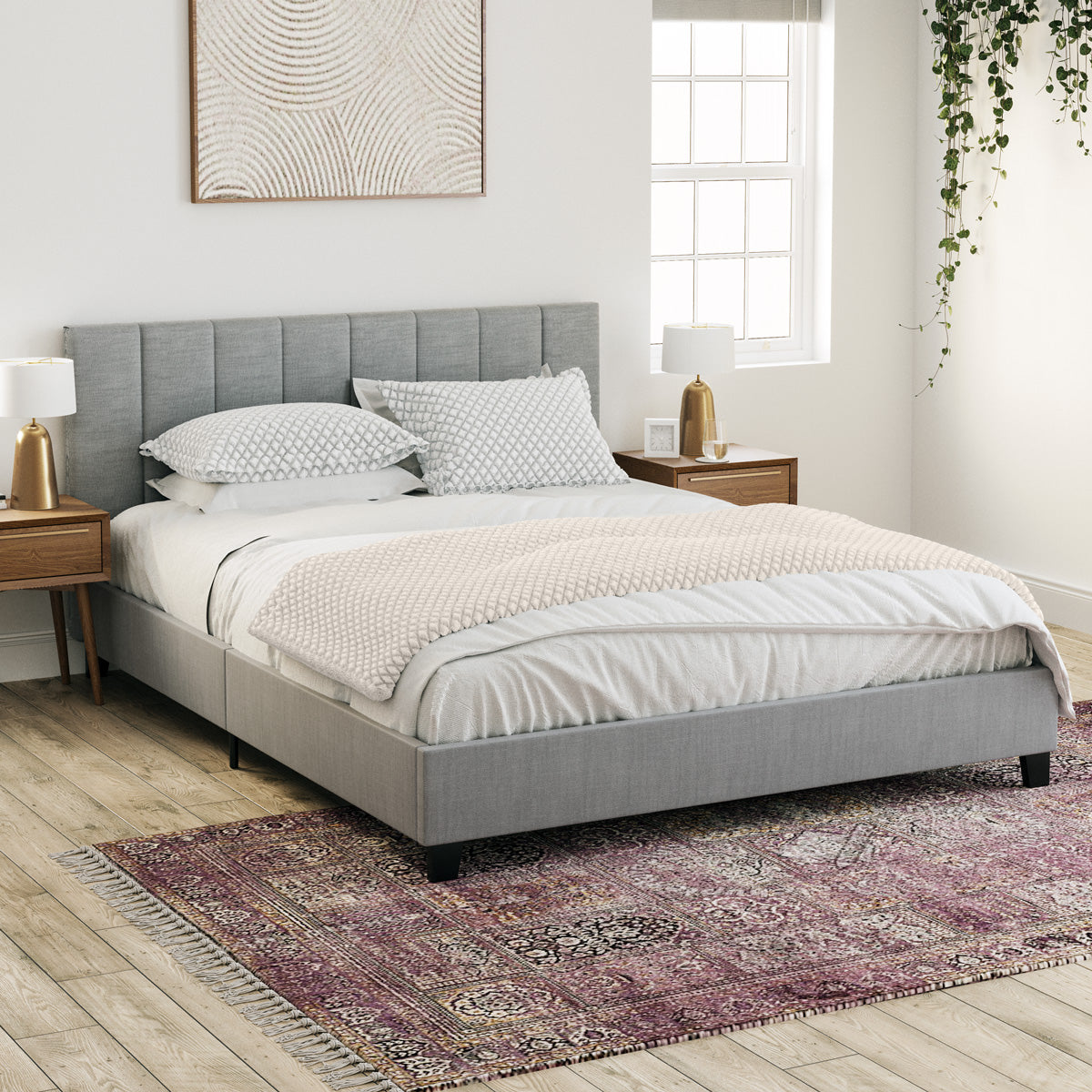 Ormond Fabric Bed Frame (Grey)