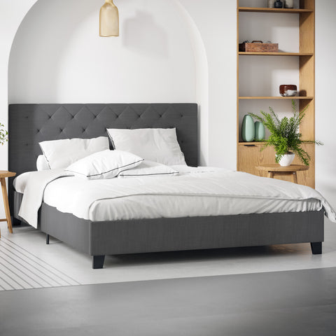 Casper Fabric Bed Frame (Charcoal)