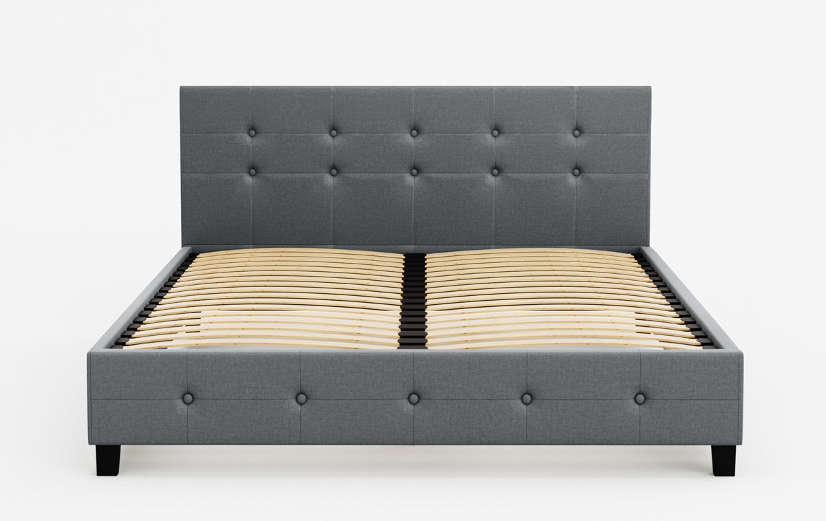 Henrik Fabric Bed Frame (Grey)