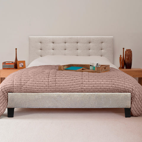 Kensington Fabric Bed Frame (Desert Beige)