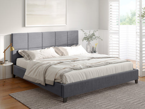 Hemlock Fabric Bed Frame (Grey)