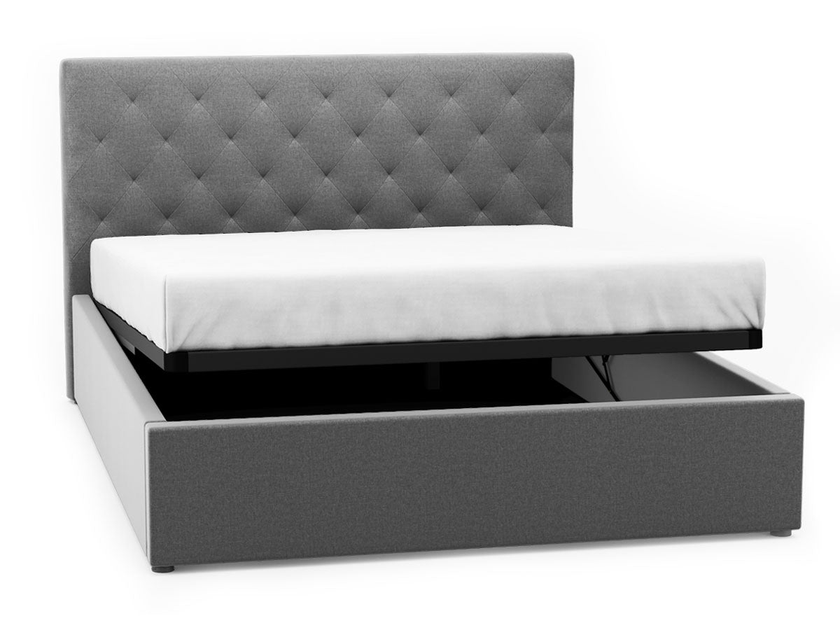 Marco Gas Lift Storage Bed Frame (Grey Fabric)