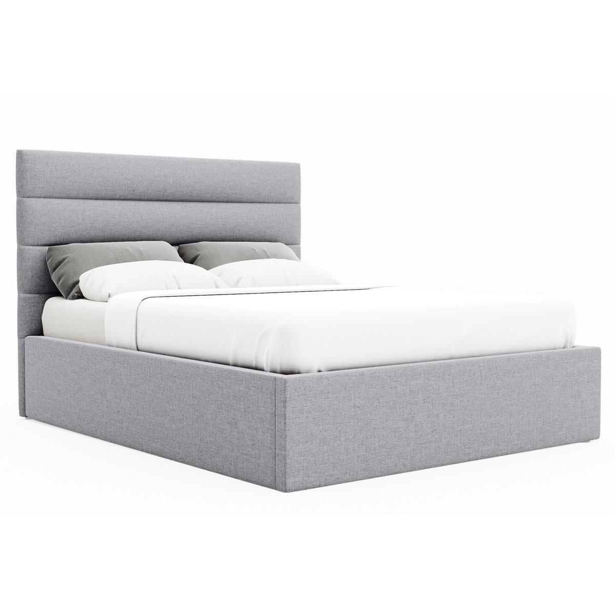 Benny Gas Lift Storage Bed Frame (Grey Fabric)