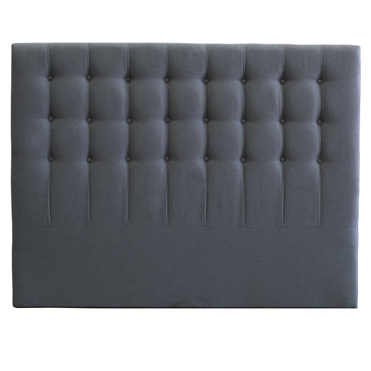 Maddison Upholstered Fabric Bed Head (Charcoal)