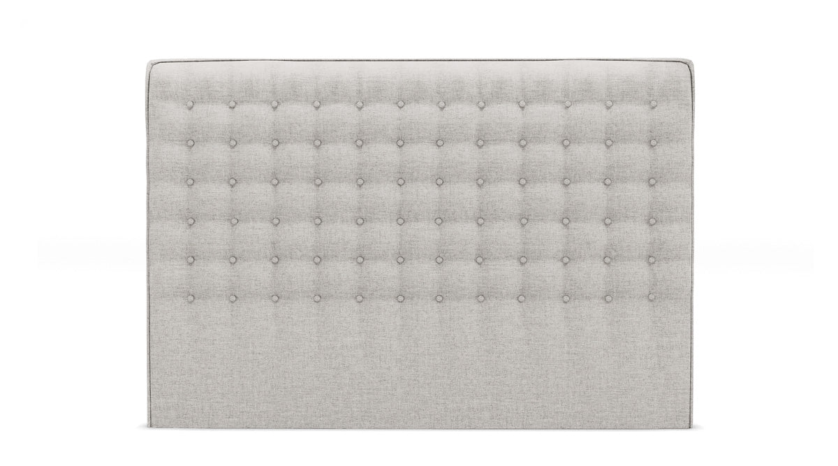 Milan Upholstered Fabric Bed Head (Stone Beige)