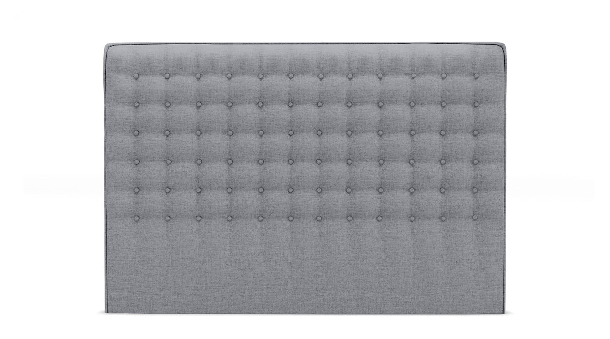 Milan Upholstered Fabric Bed Head (Grey)