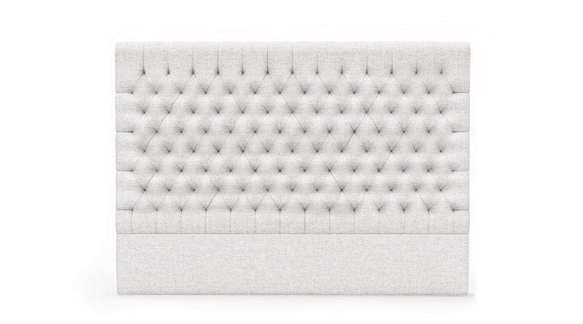 Fabio Upholstered Fabric Bed Head (Off White)