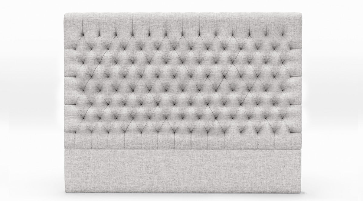 Fabio Upholstered Fabric Bed Head (Stone Beige)
