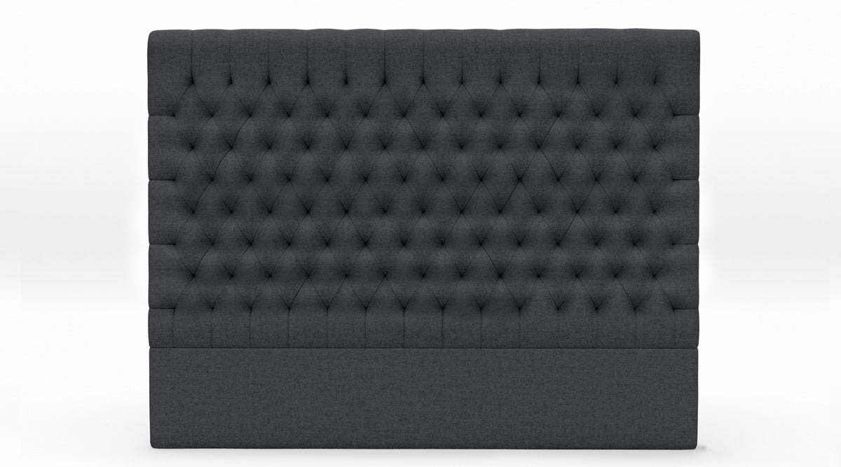 Fabio Upholstered Fabric Bed Head (Charcoal)