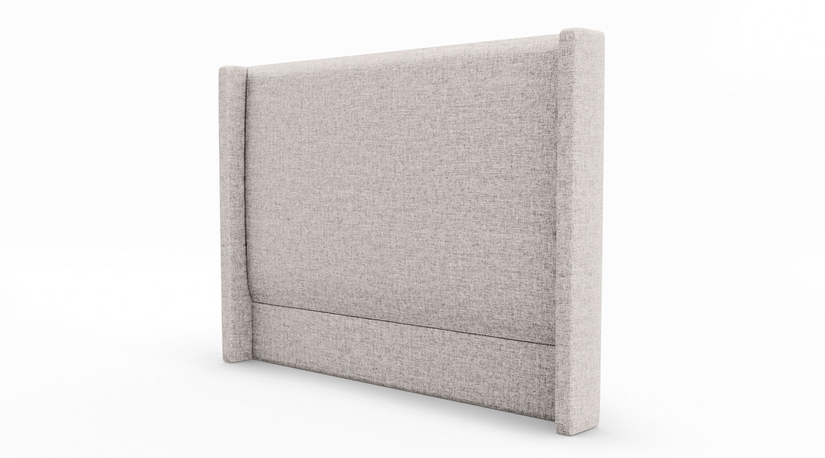 Ludwig Upholstered Fabric Wing Bed Head (Stone Beige)