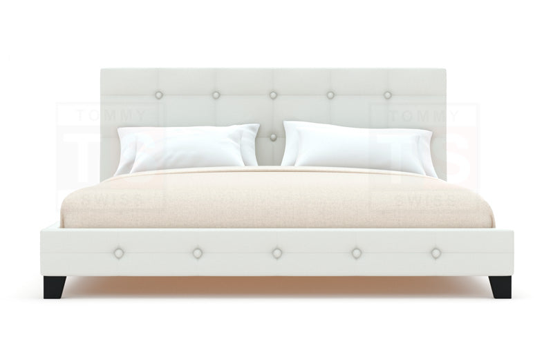 Stockholm PU Leather Bed Frame (White)