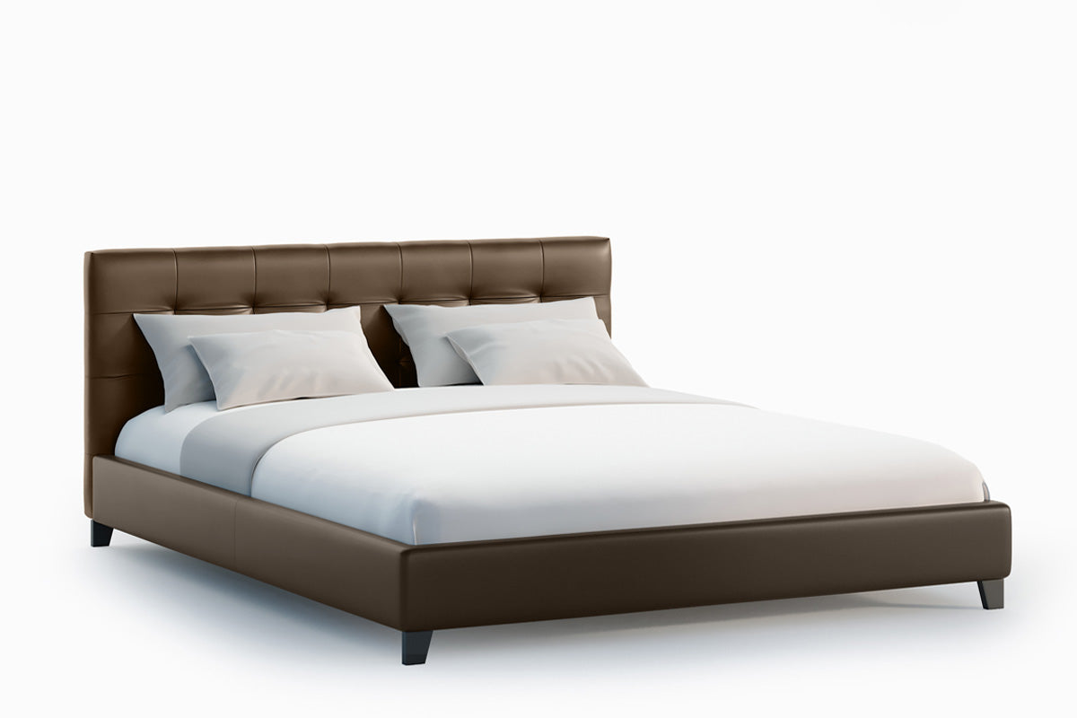 Jackson PU Leather Bed Frame (Chocolate Brown)