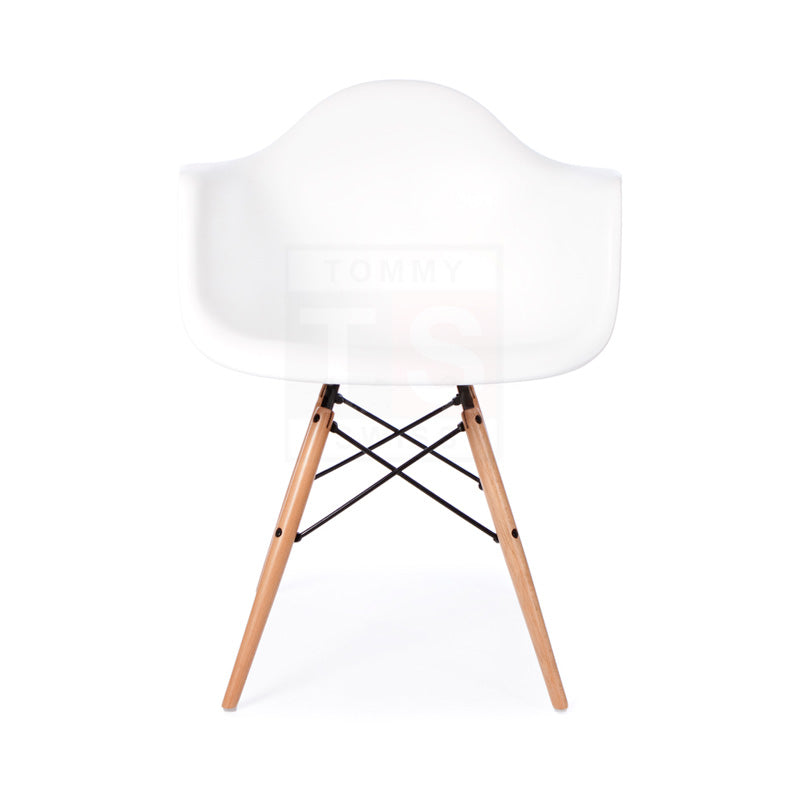 Set of 6 x Replica Eames Eiffel DAW Dining Chair (White)