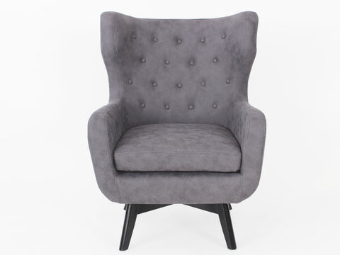 Ruben Fabric Button Armchair (Dark Grey)