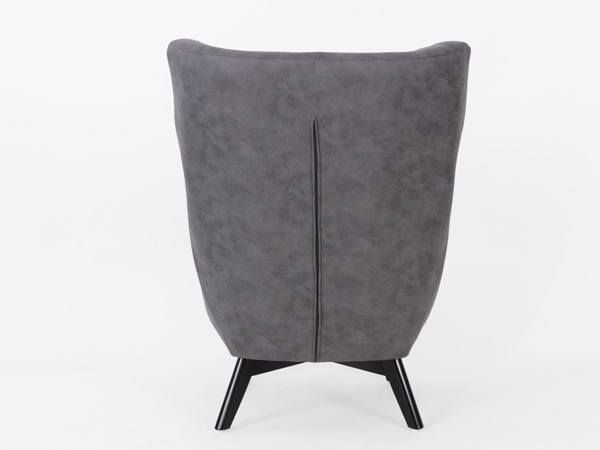 Ruben Fabric Button Armchair (Cloudy Charcoal)