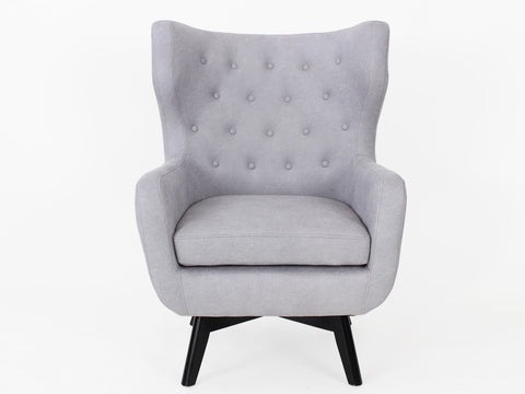 Ruben Fabric Button Armchair (Teal Grey)