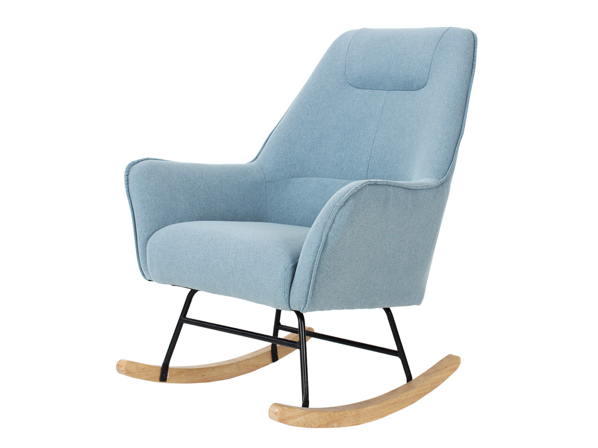 Mia Fabric Rocking Chair (Duck Egg Blue)