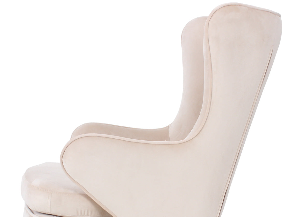 Noah Velvet Rocking Chair (Nutmeg Beige)