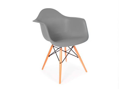 Set of 4 x Replica Eames Eiffel DAW Dining Chair (Grey)