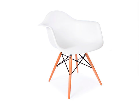 Set of 4 x Replica Eames Eiffel DAW Dining Chair (White)