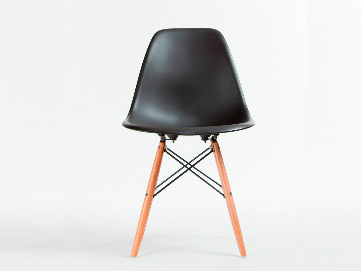 Set of 8 X Replica Eames Eiffel DSW Dining Chair (Black)
