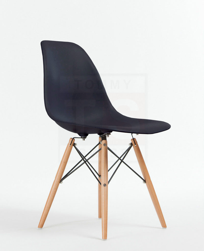 Set of 6 X Replica Eames Eiffel DSW Dining Chair (Black)